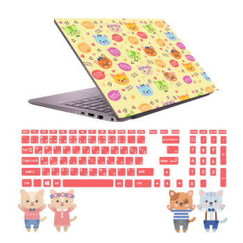 استیکر لپ تاپ صالسو آرت مدل 5035 hk به همراه برچسب حروف فارسی کیبورد