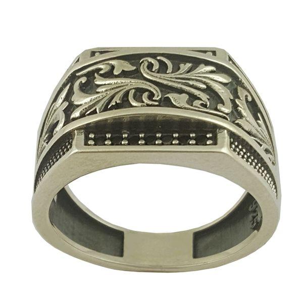 انگشتر نقره مردانه بلو استون کد 1072-62