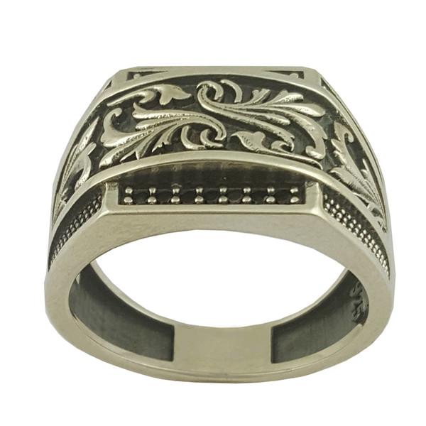 انگشتر نقره مردانه بلو استون کد 1072-65