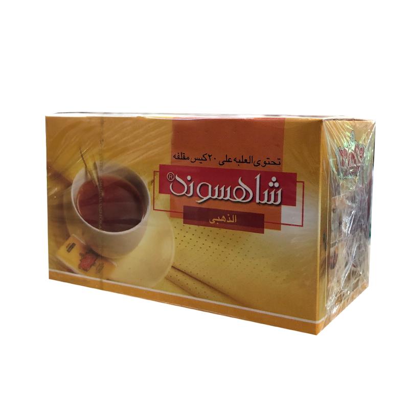 چای سیاه کیسه ای شاهسوند بسته 20 عددی