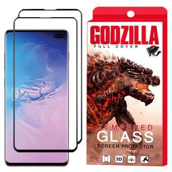 محافظ صفحه نمایش گودزیلا مدل GGF مناسب برای گوشی موبایل سامسونگ Galaxy S10 Plus بسته 2 عددی