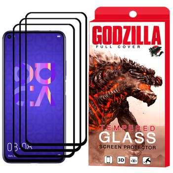 محافظ صفحه نمایش گودزیلا مدل GGF مناسب برای گوشی موبایل هوآوی Nova 5T بسته 3 عددی