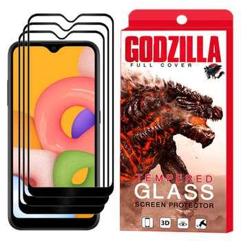 محافظ صفحه نمایش گودزیلا مدل GGF مناسب برای گوشی موبایل سامسونگ Galaxy A01/A015 بسته 3 عددی