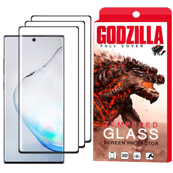 محافظ صفحه نمایش گودزیلا مدل GGF مناسب برای گوشی موبایل سامسونگ Galaxy Note 10 Plus بسته 3 عددی
