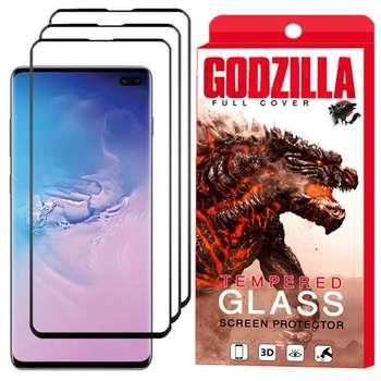 محافظ صفحه نمایش گودزیلا مدل GGF مناسب برای گوشی موبایل سامسونگ Galaxy S10 Plus بسته 3 عددی