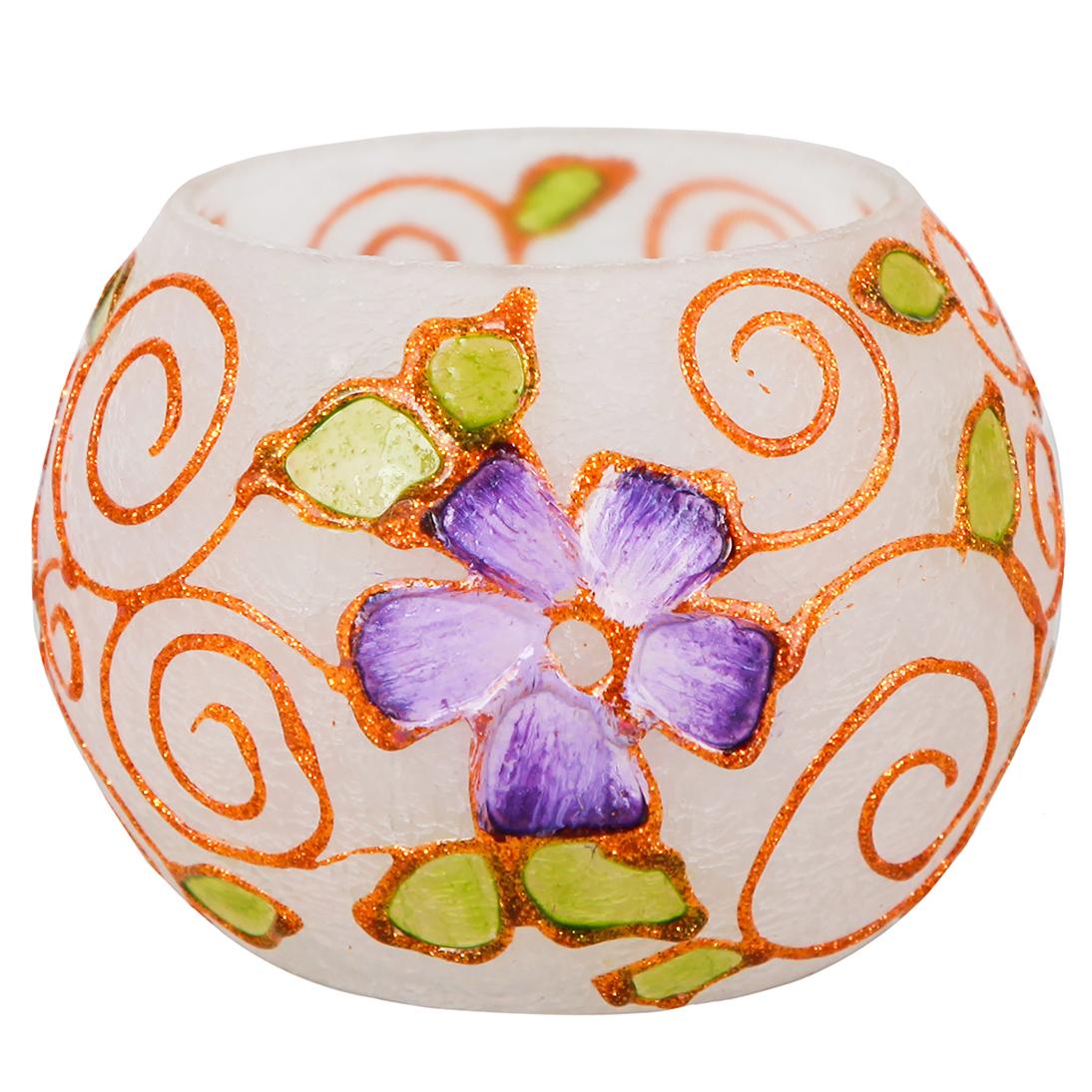 خرید                      جاشمعی شیشه ای طرح گلبهار  کد 156021