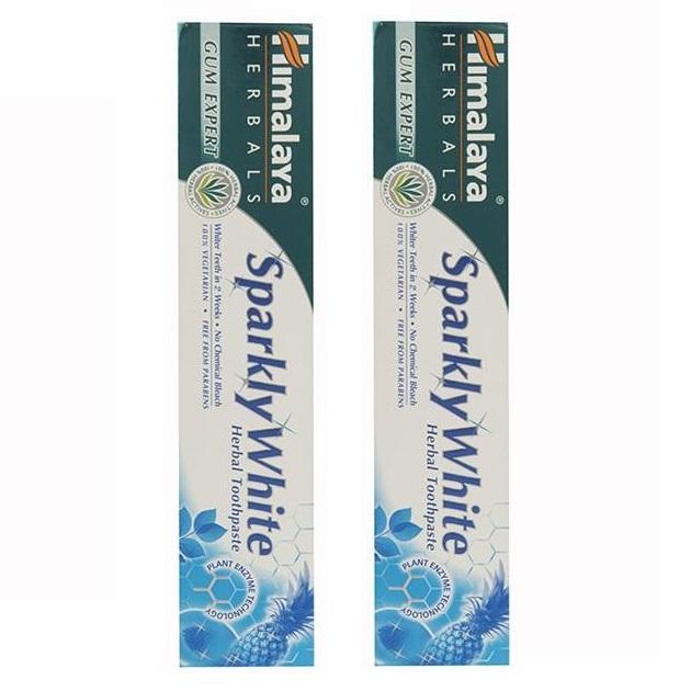 خرید                      خمیر دندان هیمالیا مدل Sparkly White حجم 75 میلی لیتر مجموعه 2 عددی