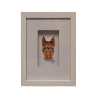 تابلو ملیله کاغذی مدل گربه