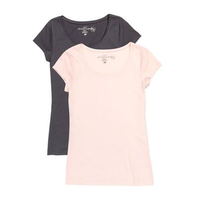 تی شرت زنانه اچ اند ام کد F1-0298243022 مجموعه 2 عددی