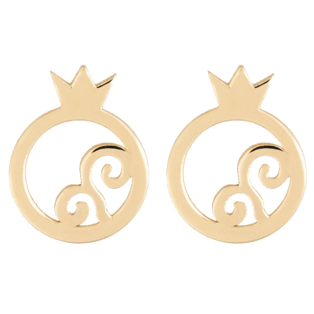 قیمت گوشواره طلا 18 عیار رزا مدل EG14