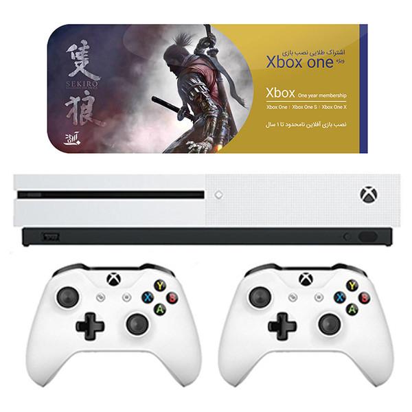 مجموعه کنسول بازی مایکروسافت مدل Xbox One S ظرفیت 1 ترابایت به همراه ۲۰ عدد بازی