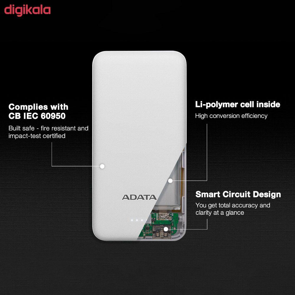 شارژر همراه ای دیتا مدل T10000 ظرفیت 10000 میلی آمپر ساعت main 1 7