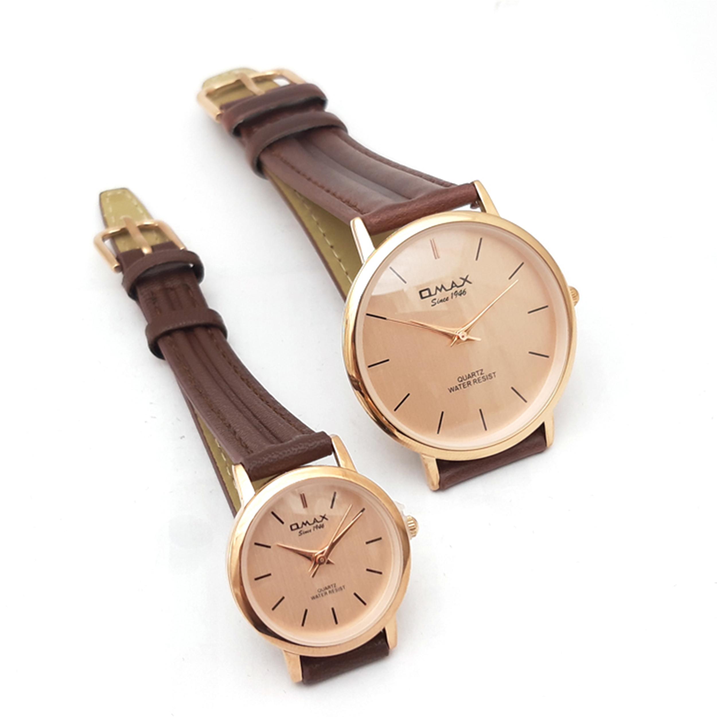 ست ساعت مچی  زنانه و مردانه اوماکس مدل SC7491R85              اصل