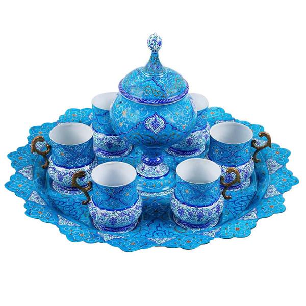 سرویس چایخوری میناکاری کد a50 مجموعه 8 عددی