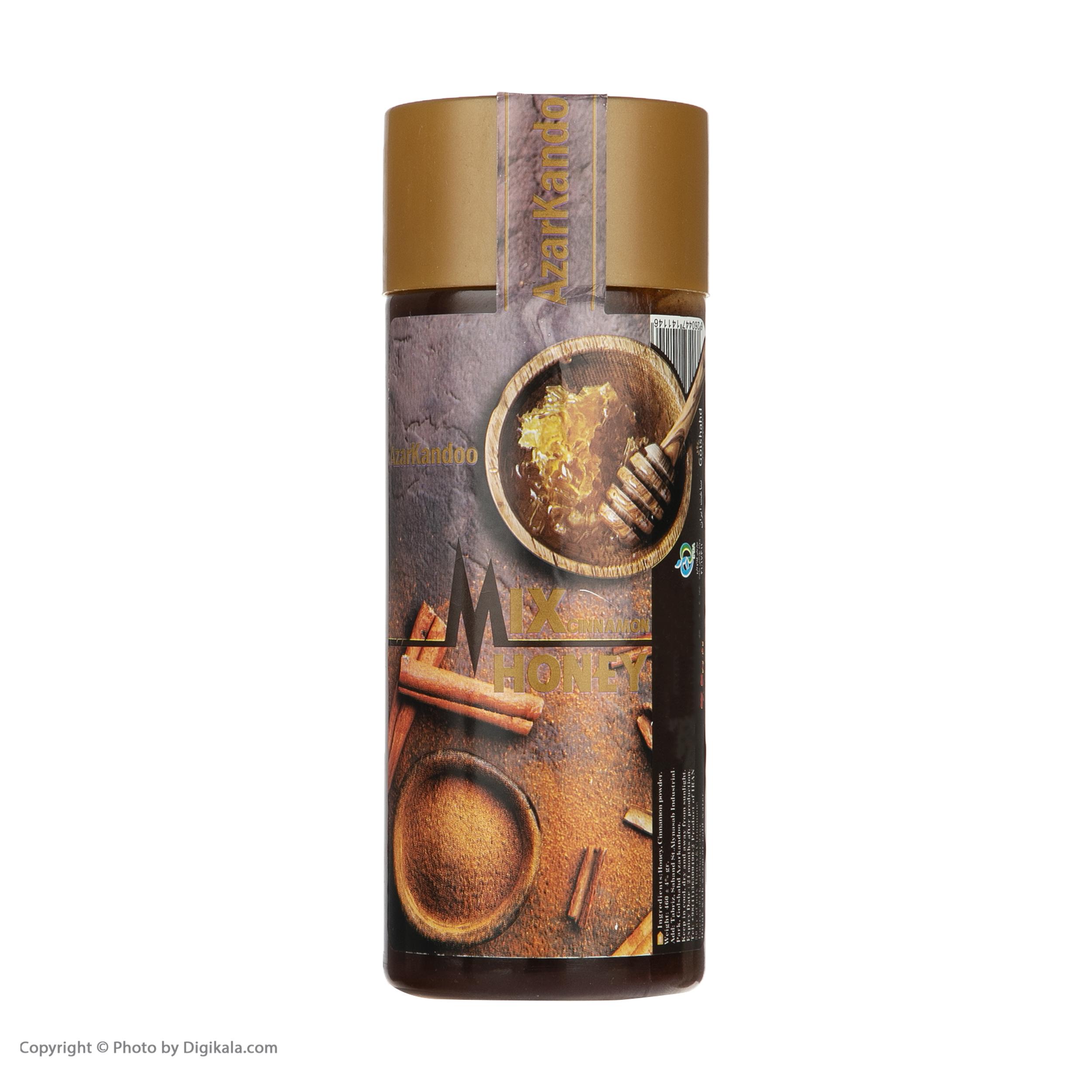 عسل آذرکندو مخلوط با پودر دارچین - 460گرم main 1 3