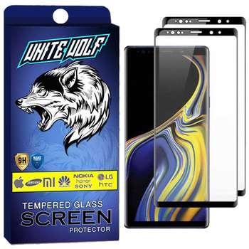 محافظ صفحه نمایش وایت ولف مدل WGF مناسب برای گوشی موبایل سامسونگ Galaxy Note 9 بسته 2 عددی