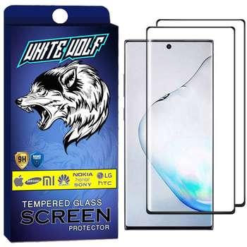 محافظ صفحه نمایش وایت ولف مدل WGF مناسب برای گوشی موبایل سامسونگ Galaxy Note 10 Plus بسته 2 عددی