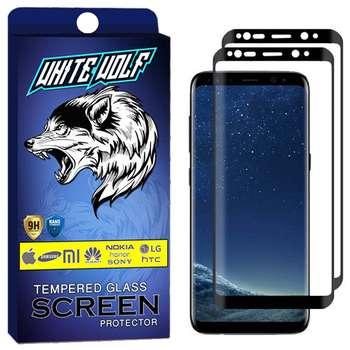 محافظ صفحه نمایش وایت ولف مدل WGF مناسب برای گوشی موبایل سامسونگ Galaxy S9 بسته 2 عددی