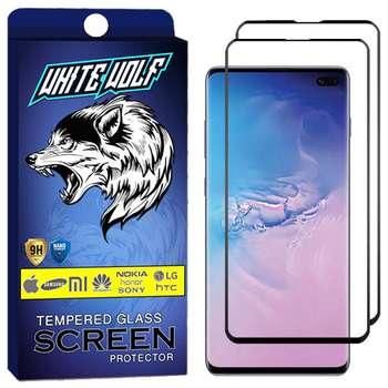 محافظ صفحه نمایش وایت ولف مدل WGF مناسب برای گوشی موبایل سامسونگ Galaxy S10 Plus بسته 2 عددی