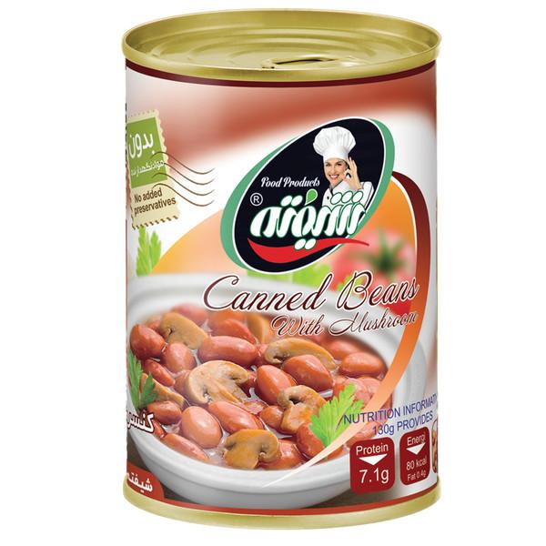 کنسرو لوبیا چیتی با قارچ شیفته - 370 گرم