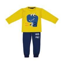 ست تی شرت و شلوار پسرانه دایناسور کوچولو مهربان مدل 2011107-16