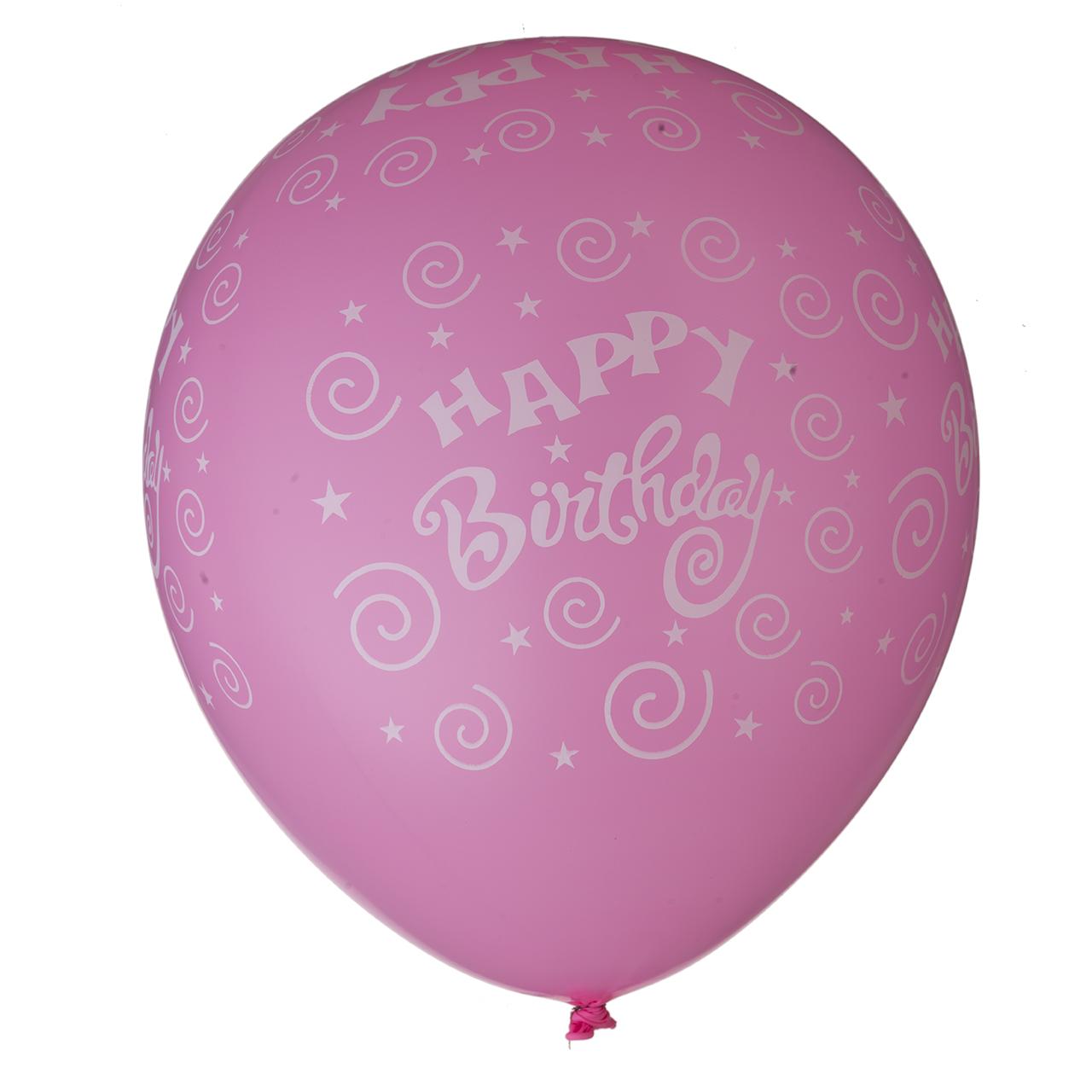 خرید                     بادکنک طرح تولد مبارک کد m 492 بسته 12 عددی