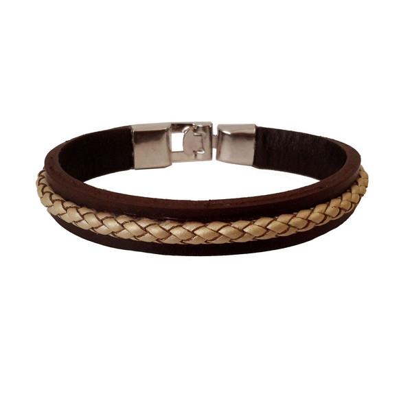 دستبند چرمی مانی چرم مدل BL-159 سایز L