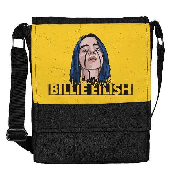 کیف دوشی دخترانه چی چاپ طرح Billie Eilish کد 65670