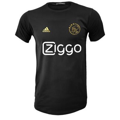 تصویر تی شرت آستین کوتاه مردانه طرح آژاکس کد A236G رنگ مشکی