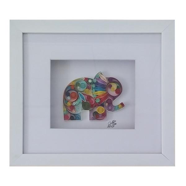 تابلو ملیله کاغذی مدل فیل