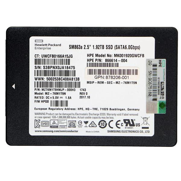 اس اس دی اینترنال اچ پی ای مدل MU-DS ظرفیت 1.92 ترابایت