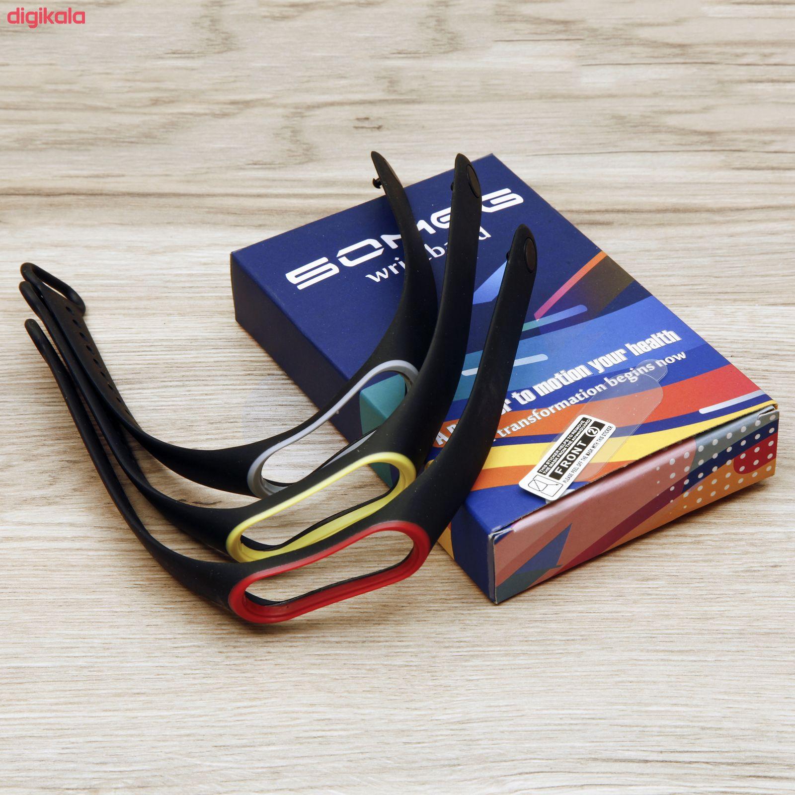 بند سومگ مدل SMG0-SP1 مناسب برای مچ بند هوشمند شیائومی Mi Band 4 مجموعه 3 عددی به همراه محافظ صفحه نمایش main 1 15