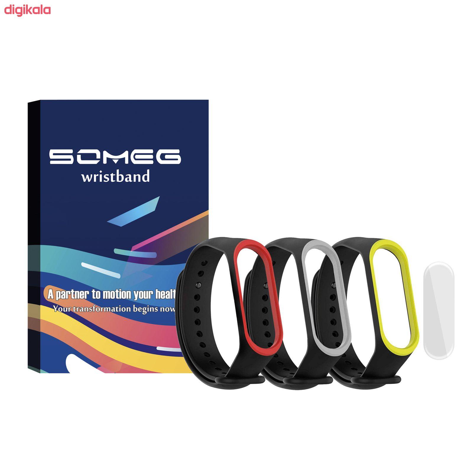 بند سومگ مدل SMG0-SP1 مناسب برای مچ بند هوشمند شیائومی Mi Band 4 مجموعه 3 عددی به همراه محافظ صفحه نمایش main 1 17
