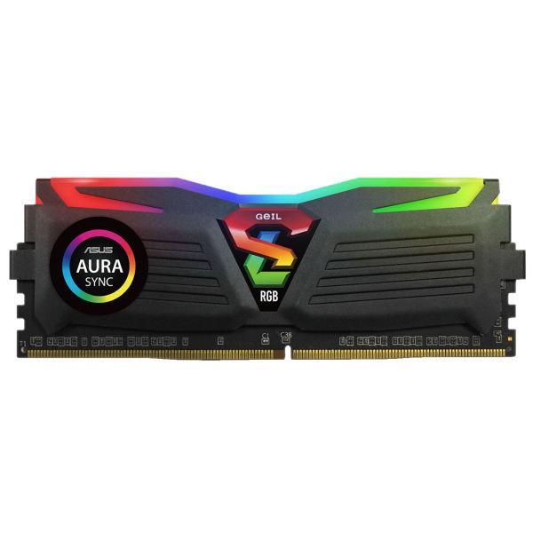 رم دسکتاپ DDR4 تک کاناله 3200 مگاهرتز CL16 گیل مدل SUPER LUCE RGB SYNC ظرفیت 16 گیگابایت