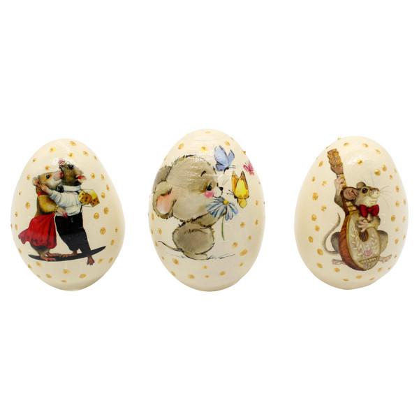 تخم مرغ تزیینی طرح موش کد GH-012 مجموعه 3 عددی
