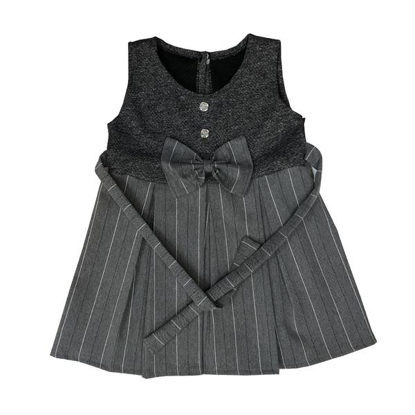 پیراهن دخترانه طرح راه راه مدل A&S7173