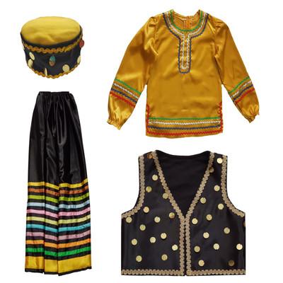 ست ۴ تکه لباس محلی دخترانه کد ۰۴۶
