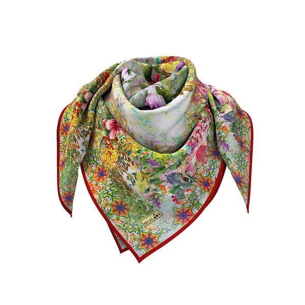 روسری زنانه بلالوک طرح گل کد 024
