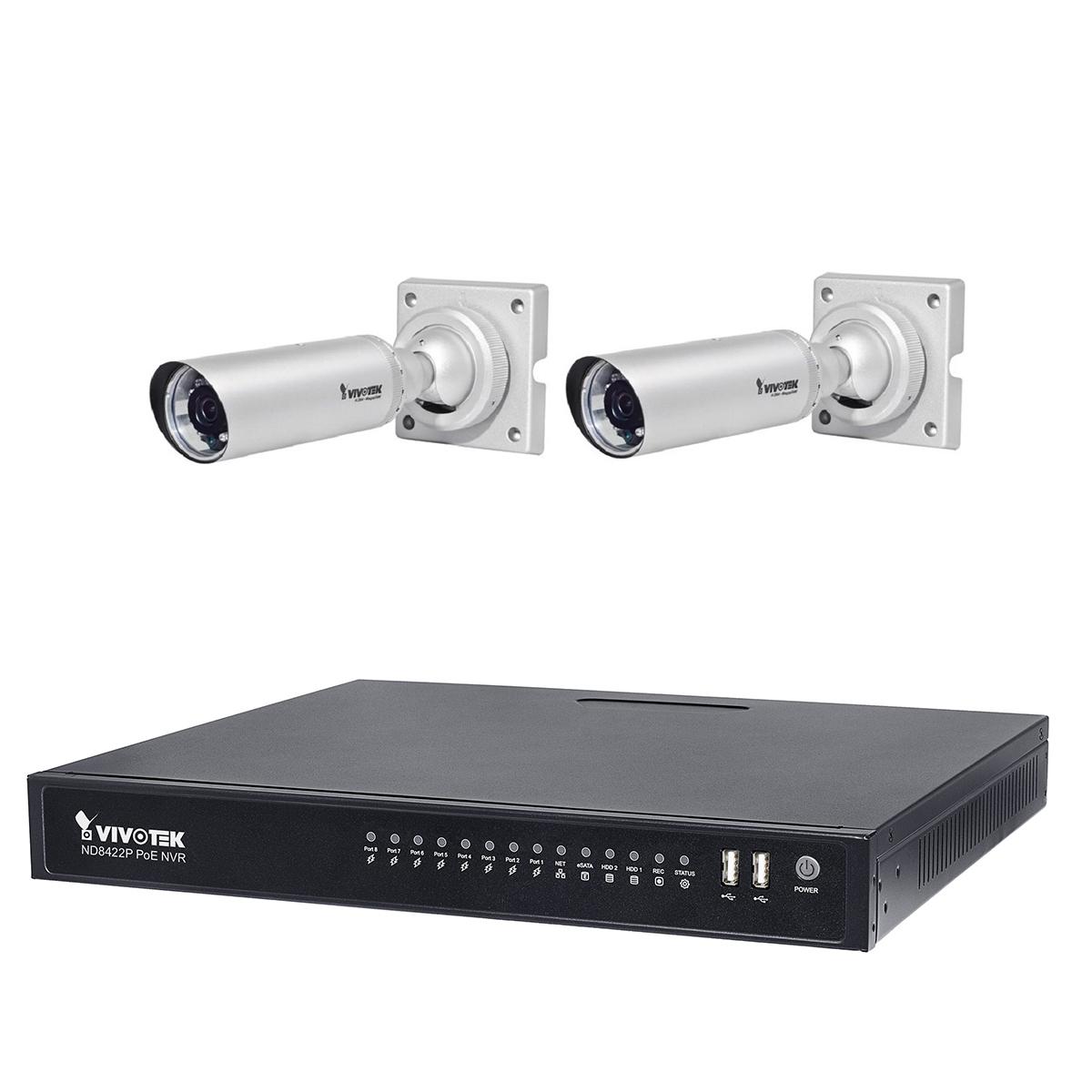 سیستم امنیتی ویوتک مدل ND8422P/IB8354Cx2 Solution Kit