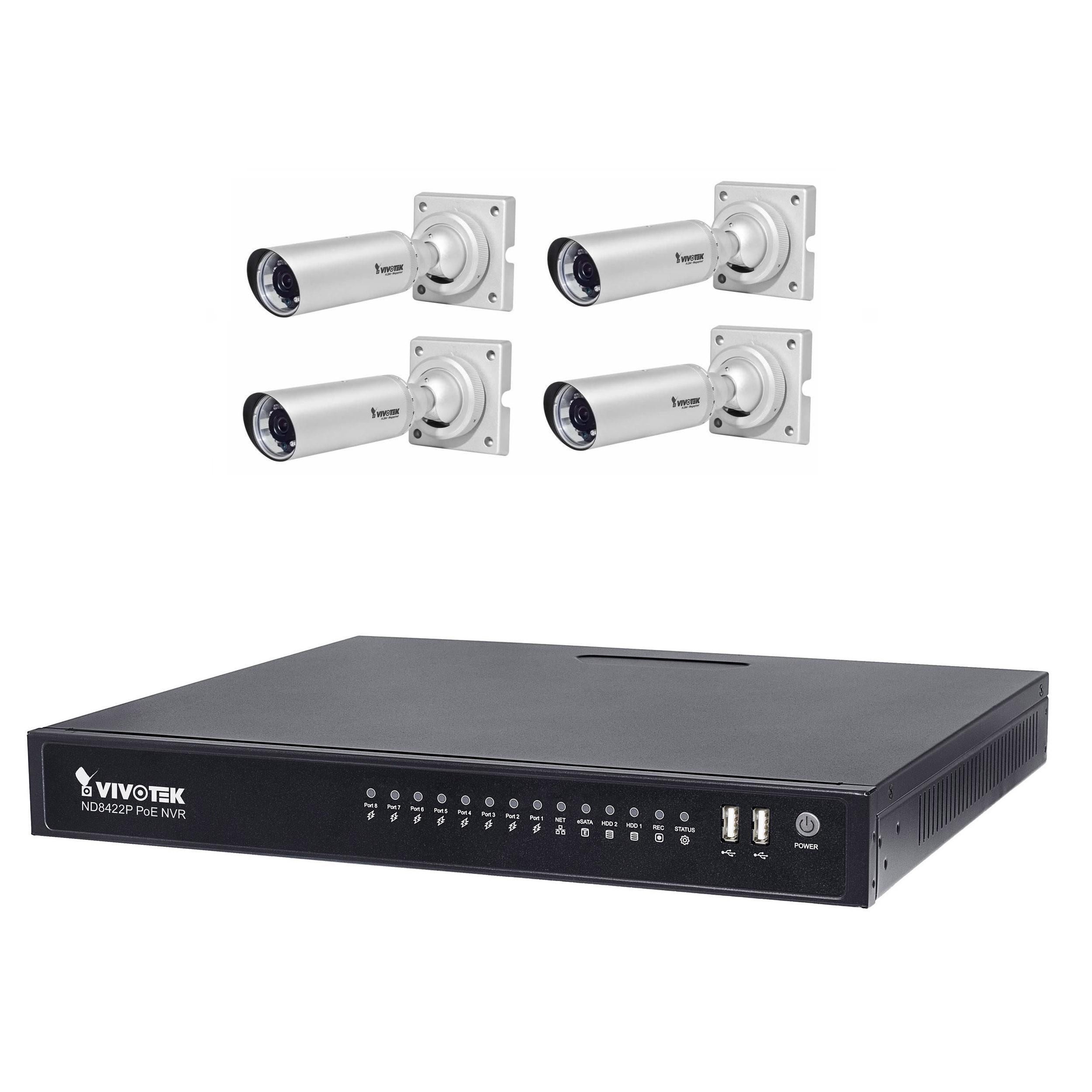 سیستم امنیتی ویوتک مدل ND8422P/IB8354Cx4 Solution Kit