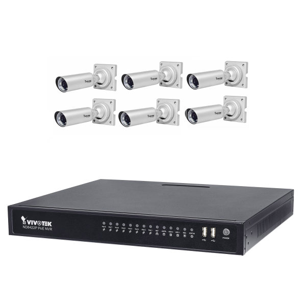 سیستم امنیتی ویوتک مدل ND8422P/IB8354Cx6 Solution Kit