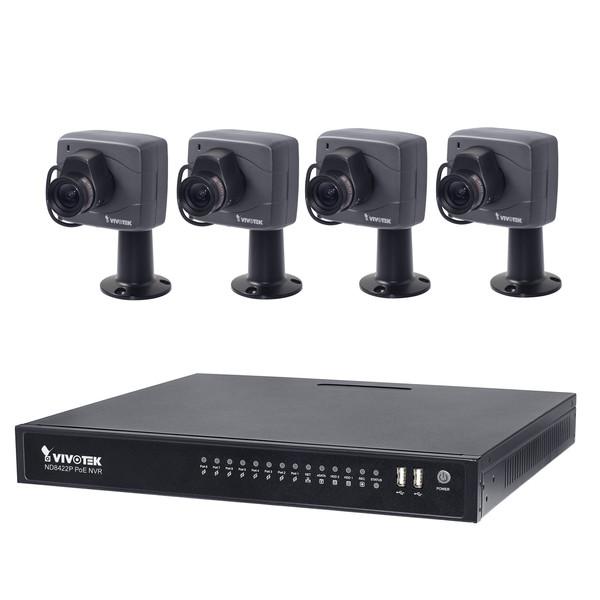 سیستم امنیتی ویوتک مدل ND8422P/IP8152F4x4 Solution Kit