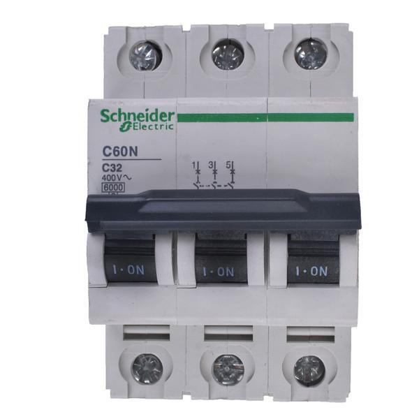 فیوز مینیاتوری سه پل 32 آمپر اشنایدر الکتریک سری C60N مدل24353