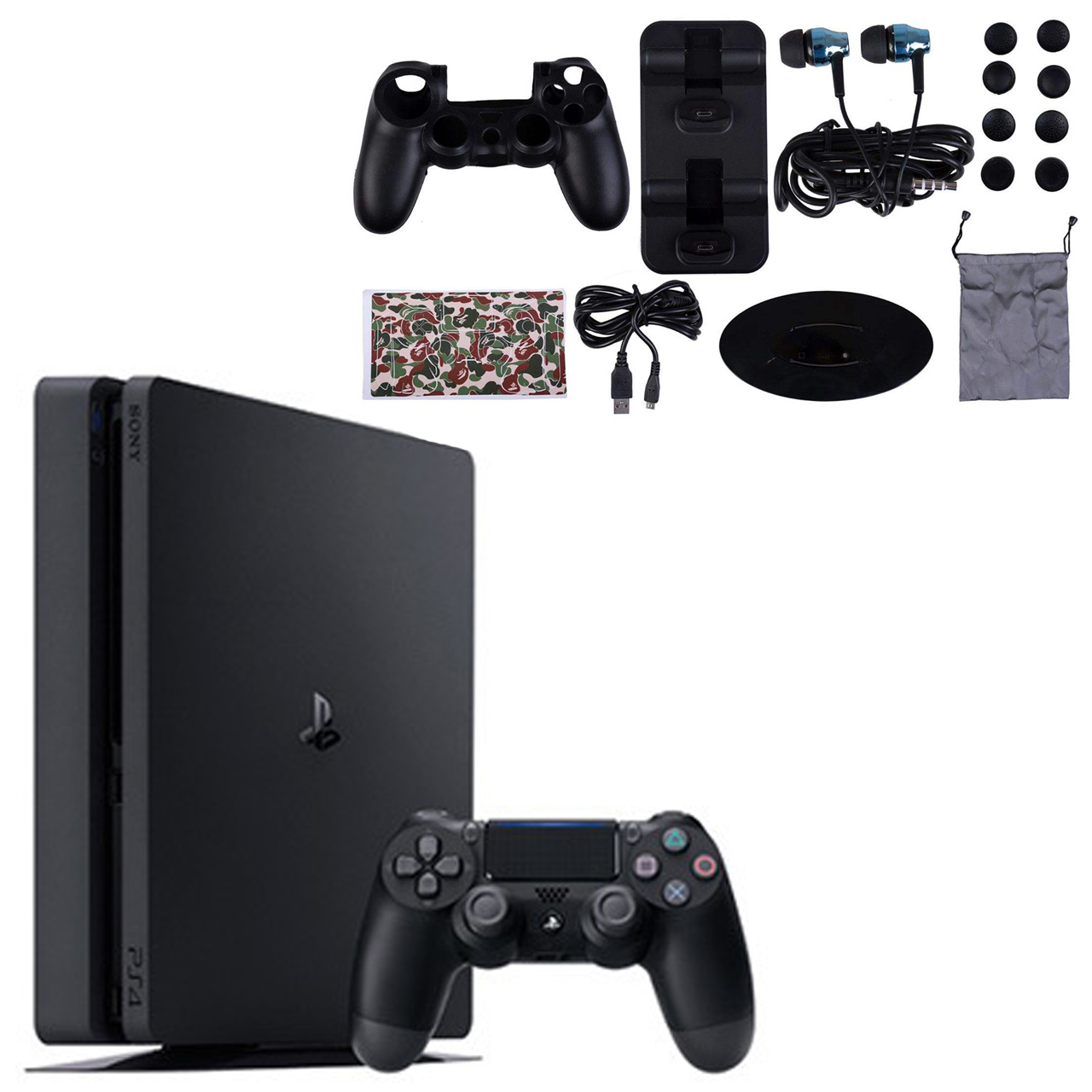 مجموعه کنسول بازی سونی مدل Playstation 4 Slim ریجن 1 کد CUH-2215B ظرفیت 1 ترابایت