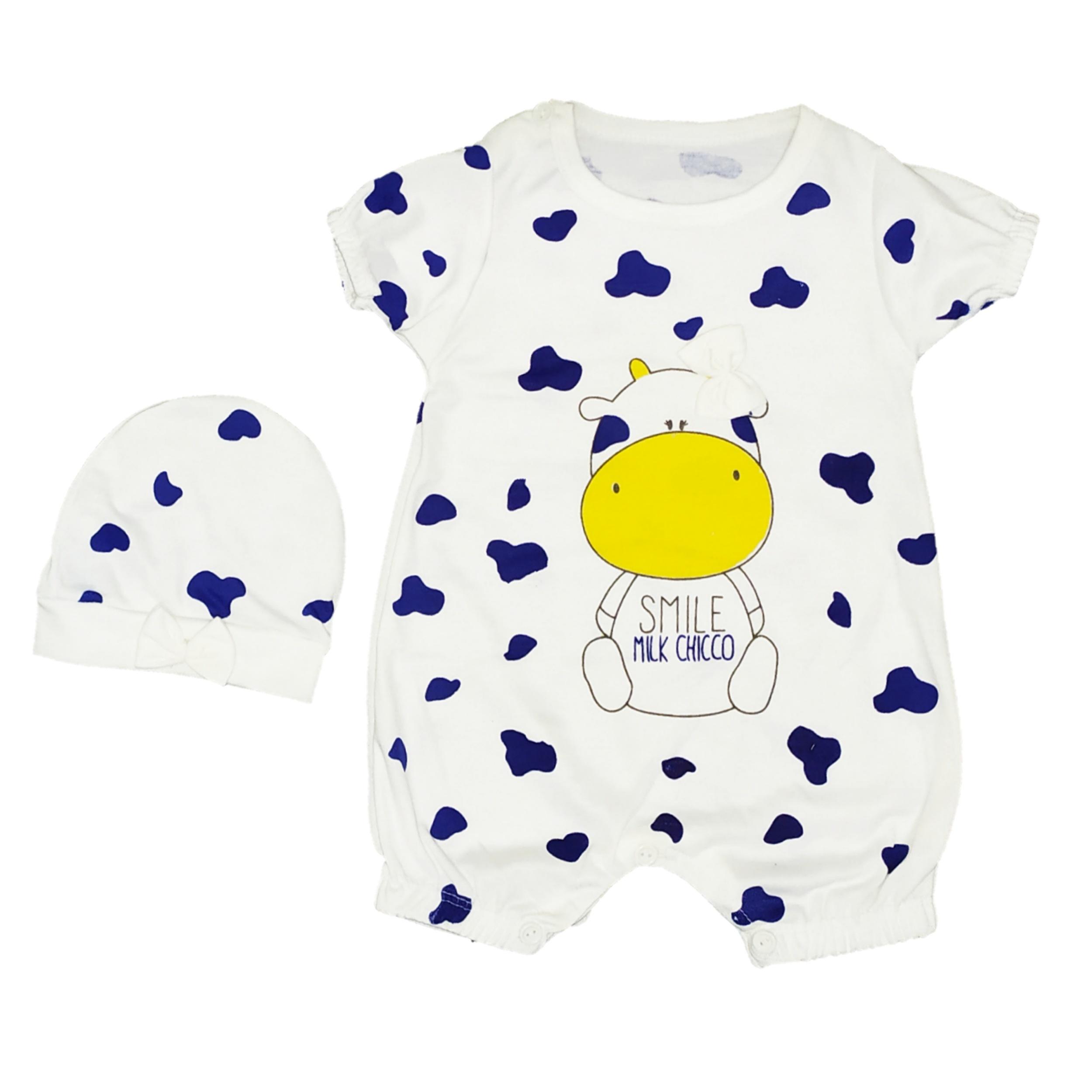 ست کلاه و سرهمی نوزاد کد 008
