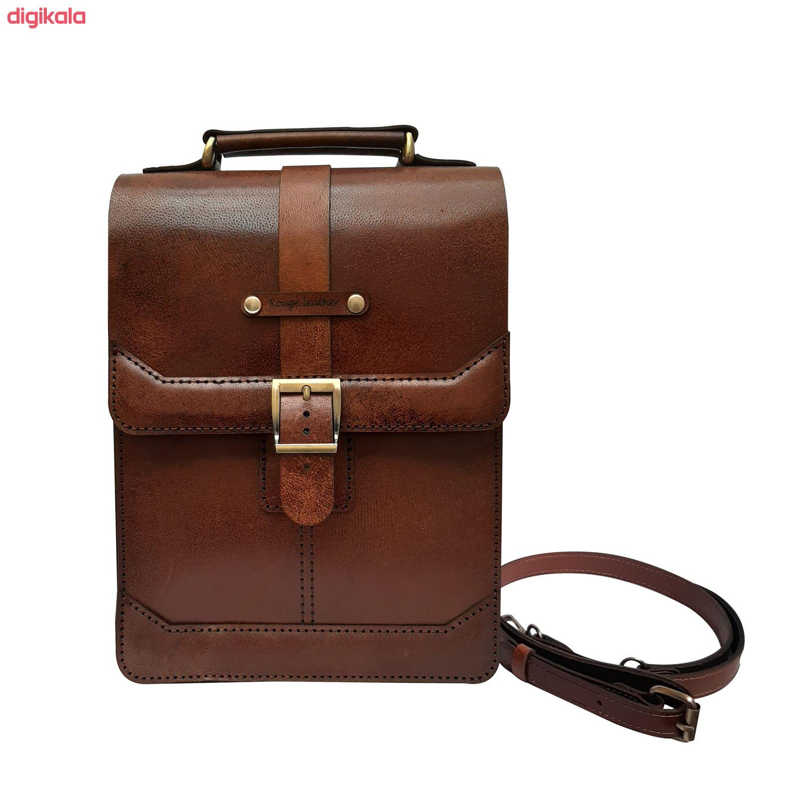 کیف دوشی مردانه چرم روژه مدل ES01A main 1 4