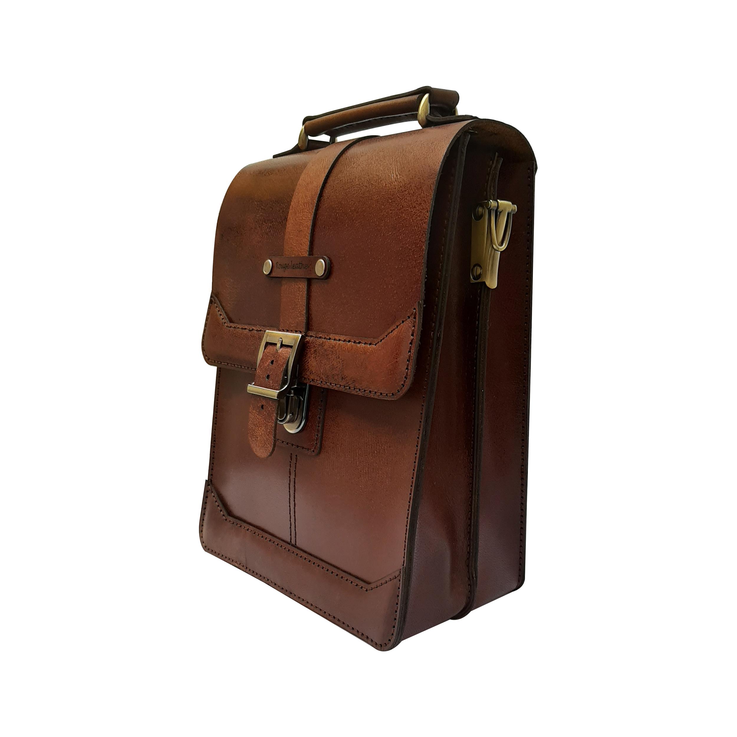 کیف دوشی مردانه چرم روژه مدل ES01A main 1 2