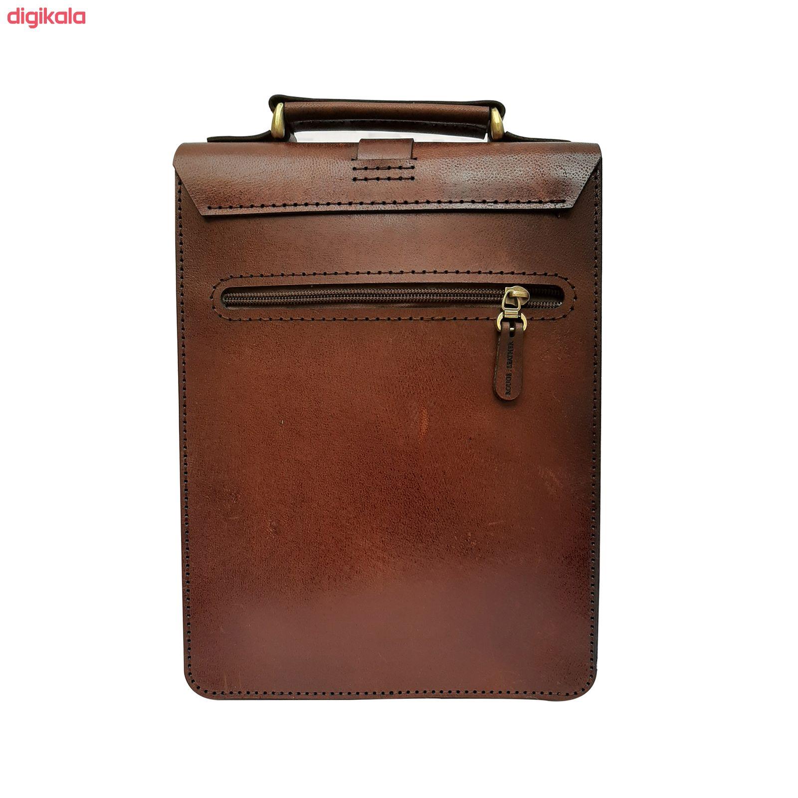 کیف دوشی مردانه چرم روژه مدل ES01A main 1 3