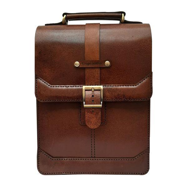 کیف دوشی مردانه چرم روژه مدل ES01A