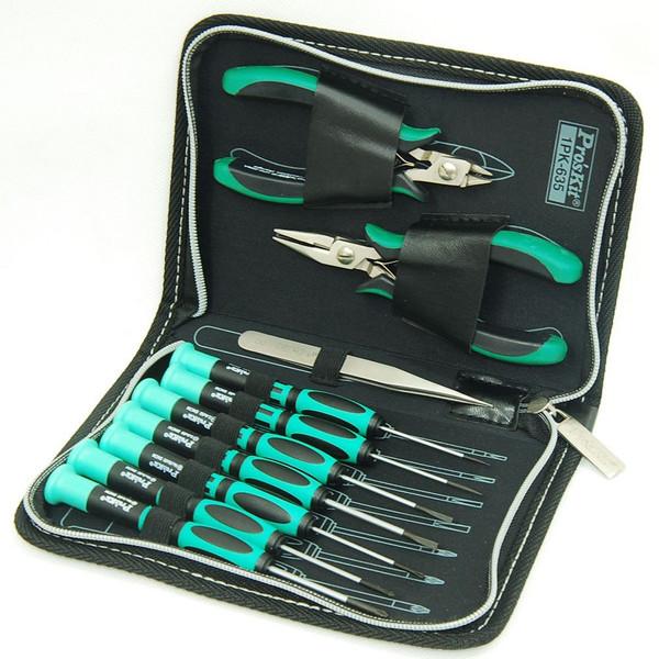 مجموعه 10 عددی ابزار پروسکیت مدل 1pk-635